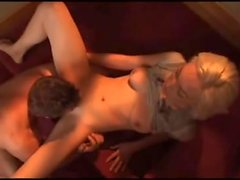 Young blonde Lily LaBeau sexy blowjob fun