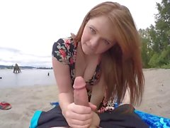 Young Couple Use Go-pro Camera To Make Sex Video At Beach