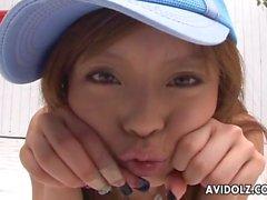 Flirty and fun Japanese girl dances in panties