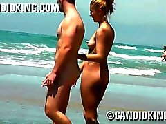 Sexy young Latina caught naked on the beach!