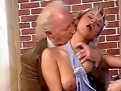 An old and young orgy with fucking and cumshots