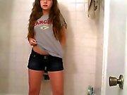 Hot Brunette Striptease
