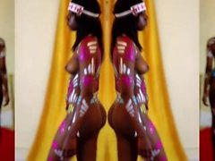 TRIBAL BODY PAINT #2 [EBONX TV] Ebony Nude Body Paint Show