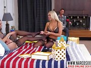 Blonde Mom Aidra Fox And Alexis Monroe Wore Stockings For Threesome