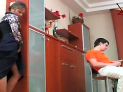 Russian Mature MILF Step-mom and Her Step-Son