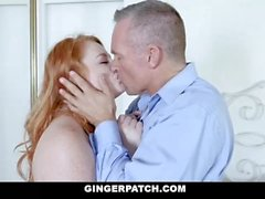 GingerPatch - Freckled Redhead Gets Hairy Pussy Rammed