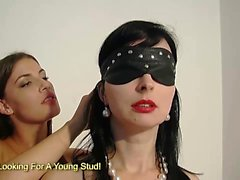Teen babe in her first lesbian bondage experience