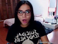 Sensual Nerdy Camgirl Is Being Very Naughty Alone