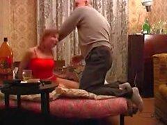 Grandpa seducing, lick her pussy and fuck.
