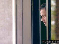 NubileFilms - Fucking Teen Girlfriend & Hot Roommate
