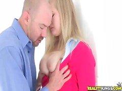 Blonde teen belle Roxy Lovette get a dick