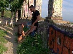 CHICAS LOCA - Latina Mexican teen Frida Sante loves a kinky outdoor fuck