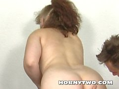Wet hairy horny stepmom anal seducing young man make the ass