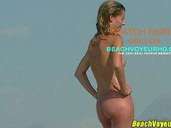 Sexy Young Nudist Blonde Milf Beach Spycam Voyeur HD Video