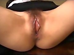 Bound Masked Hairy Asian Made To Orgasm