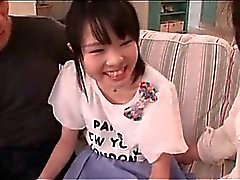 Dick lover teen Asian chick giving boner to hot dudes in 3some