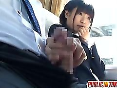Gorgeous Teen Schoolgirl Has Fun Riding Cock On A Bus