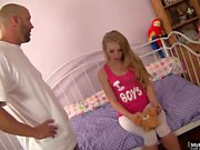 Sexy blonde is one on one with stepfather