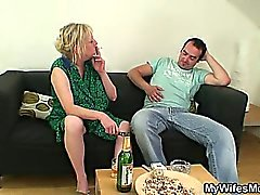 Her daughter's leaves and she fucks her man