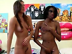 Masturbating ebony hazing