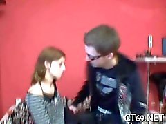 Adorable little teen babe gets nailed