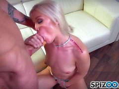 Spizoo - Teen Ash Hollywood is punished by a big dick
