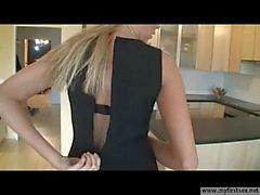 young german blonde wife in high heels fucked
