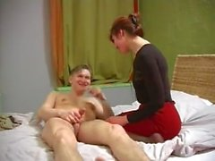 Young guy fucked adult woman