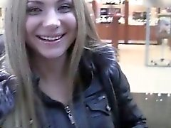 Sweet amateur blonde with a cute face