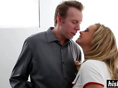 Bree Olson gets plowed in hardcore fashion