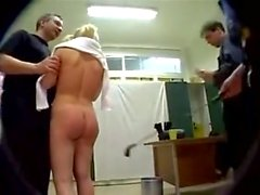 Hard anal gang bang with Tiny blonde in pigtails