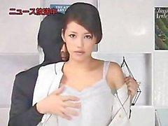 japanese woman fucks on tv