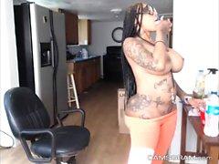 Luxury Tattooed Ebony Whore Shows Off Her Amazing Naked Body