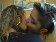 Ray Mattos aka Miss baby deep kissing Lola Melho