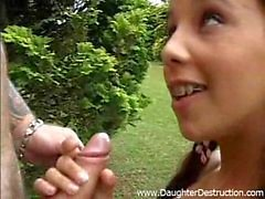 Younger teen daughter and daddy