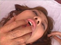 Gorgeous Japanese cutie pie gets a facial cumshot after a hardcore pounding