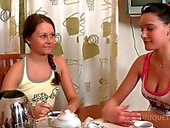 luiza and dulce in a lesbo oil massage scene
