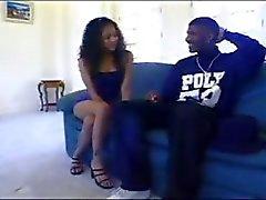 Slim ebony queenJade Marcela gets ass fucked