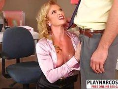 Chesty Mom Amanda Verhooks Seduces Hard Teen Dad's Friend