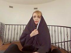 Fucking a nun in Virtual reality