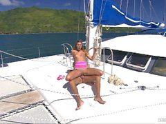 Olivia Is aboard a Great Sailing Ship and Has Anal for the First Time