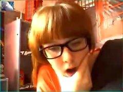 Cute nerdy teen bate