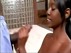 Ebony Pleasure Girl With Monster Cock
