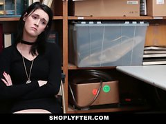 Shoplyfter Hipster Teen Fucked For Stealing