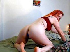 Latex Redhead Teen Mistress Makes You Jerk Off