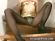 Japanese Babe in Pantyhose!