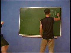 Geometry teacher seduces young guy.