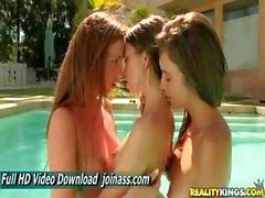Riley Reid Malena Morgan And Maddy Oreilly Bikini Brunette Lesbian