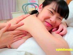 Yuzuna Aida Cute Debut Teen With Massive Tits Gets Massage