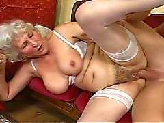 Kinky grandma gets banged by young hunk
